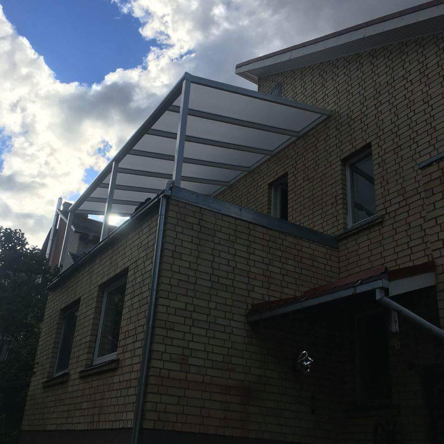 """Stoginė terasai """"REGIUM"""" su polikarbonato stogo danga"""