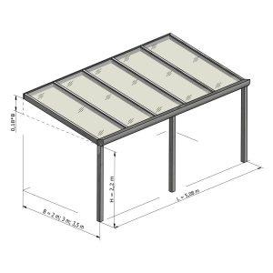 Gampre Regium stoginė terasai brėžinys 5.08 m pločio