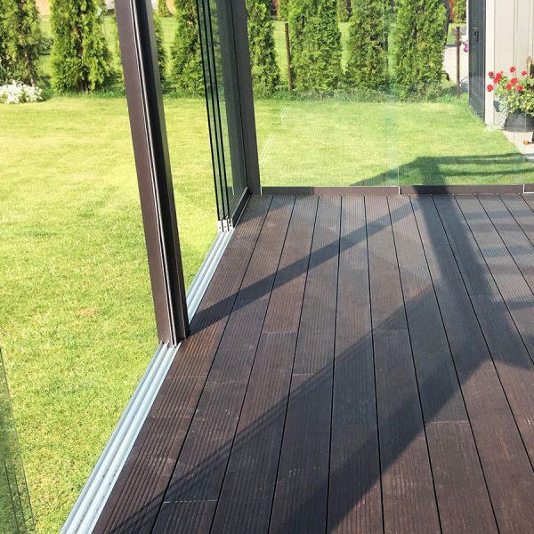 Bambuko masyvo lauko grindys - ilgaamžės lentos terasai
